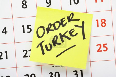 Order Christmas Turkey Reminder