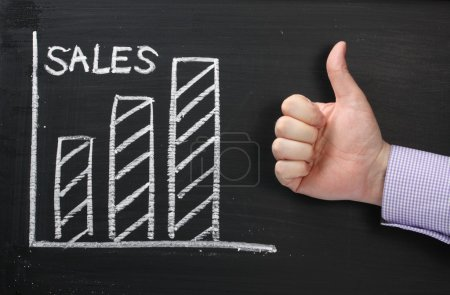 Sales Growth Thumbs Up