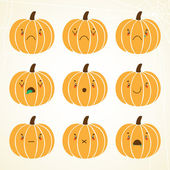 Pumpkin smiley: sad dissatisfied weeping ill shock grin silence no emotions dead