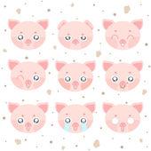 Kawaii smiley pig