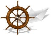 Papíru lodi a loď kolo
