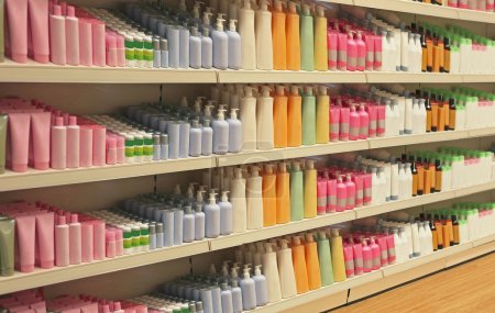Retail store cosmetic shelves