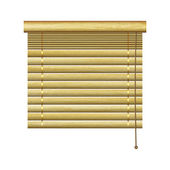 New horizontal louvers from natural wood planks can use for retro indoor design
