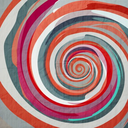 Illustration pour Fond abstrait avec spirale aquarelle sur la texture du papier - image libre de droit
