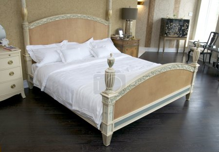 Bedroom with beds and tables, light the night