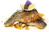 Pečená ryba s rýží a houbami