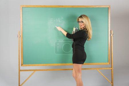 Blonde School Teach