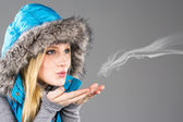 Female Model With Winter Clothes