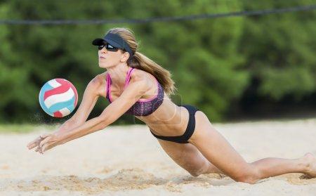 Female Beach Volleyball Player