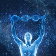 3d image DNA molecules and human...