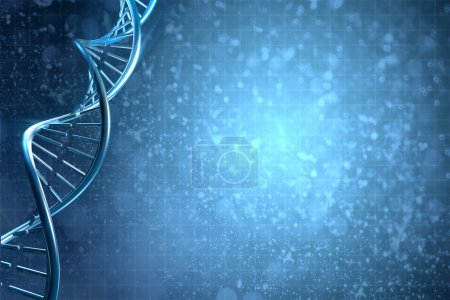 Photo for Digital 3D illustration of a DNA in beautiful background - Royalty Free Image