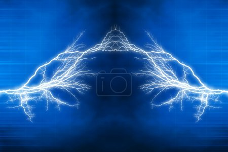 Photo for Electric lighting effect, abstract techno backgrounds for your design - Royalty Free Image