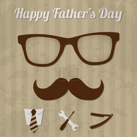 Illustration for Happy father's day - Royalty Free Image