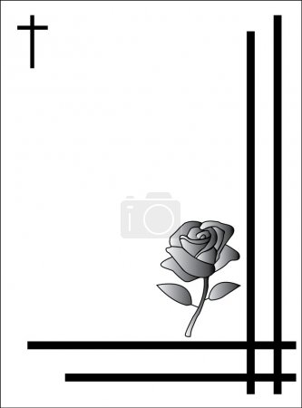 Illustration for Condolence card - Royalty Free Image