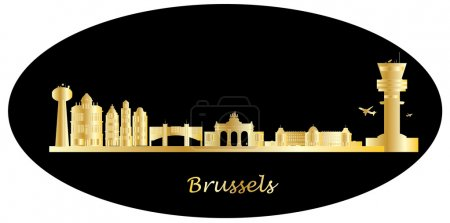Belgium city skyline