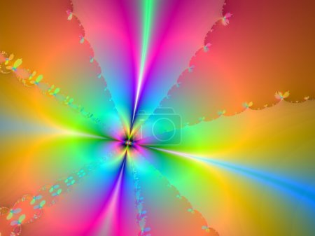 Light Pastel Colours in Clover Petal Formation Background