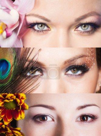 Photo pour Beaux yeux de femme - image libre de droit