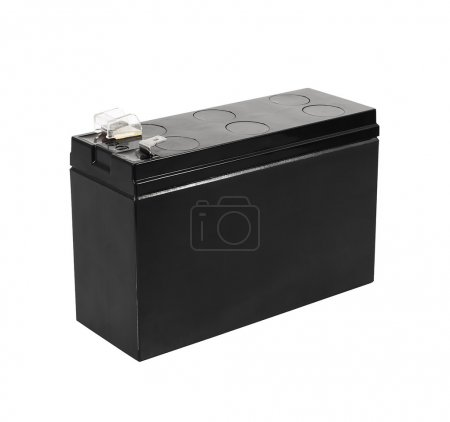Black battery isolated on white background