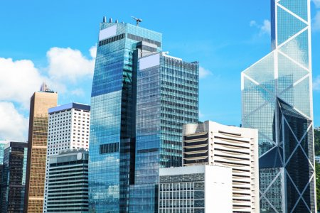 Photo for Commercial Buildings in Hong Kong - Royalty Free Image