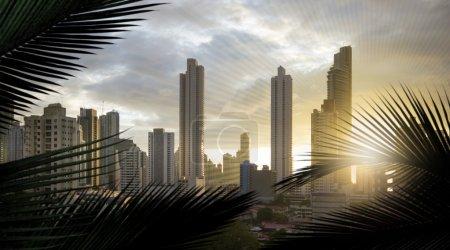 Skyscrapers of panama panorama