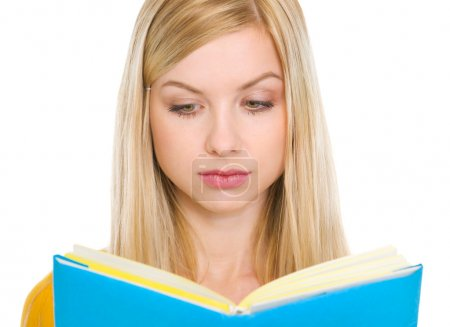 Photo for Student girl reading book - Royalty Free Image