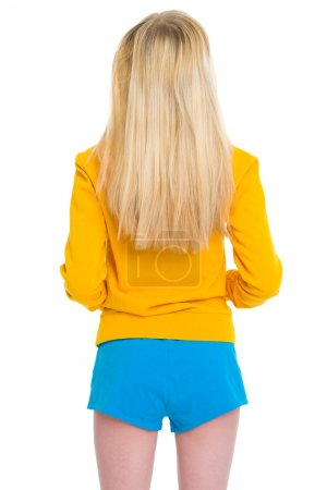 Teenager girl . rear view