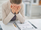 Frustrated business woman working