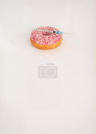 Donut and diabetes syringe