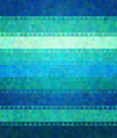Illustration for Modern flat style polygon vector background. Cold green and blue varied colors. - Royalty Free Image
