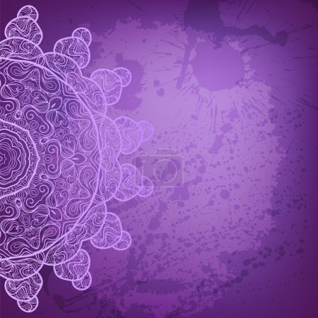 Illustration for Beautiful lilac and purple arabesque abstract background - Royalty Free Image