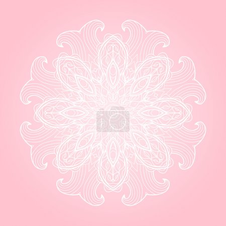 Pastel colors abstract vector background with round ornament