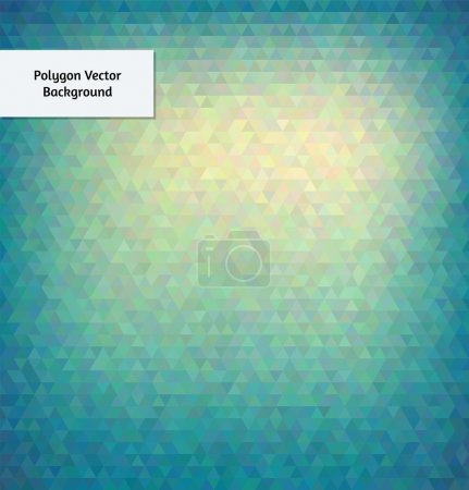 Illustration for Abstract vector polygon style background - Royalty Free Image