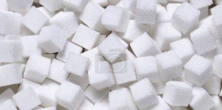 Photo for White sugar in cubes texture background - Royalty Free Image