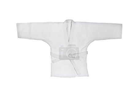 Judogi with white belt