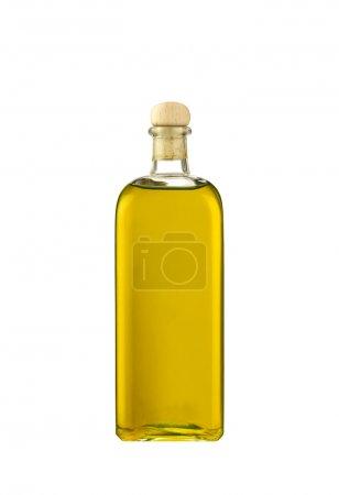 Photo pour Bouteille d'huile d'olive isolée sur fond blanc - image libre de droit