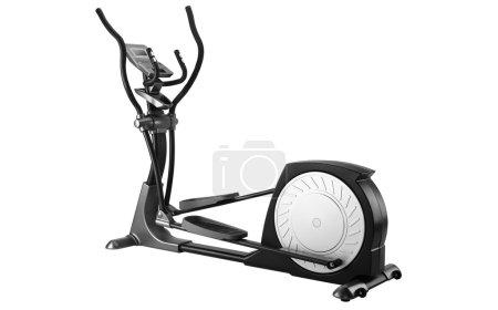 Elliptical gym machine over white background...