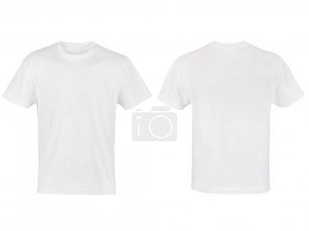 Photo for Two white T-shirt isolated on white background - Royalty Free Image
