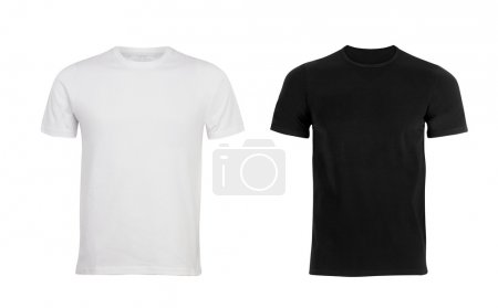 Photo for Black and white man T-shirt - Royalty Free Image