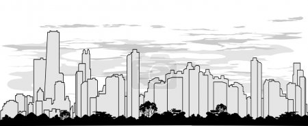 outline silhouette of the city
