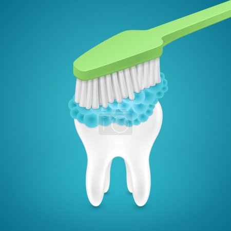 Brushing your teeth with toothpaste