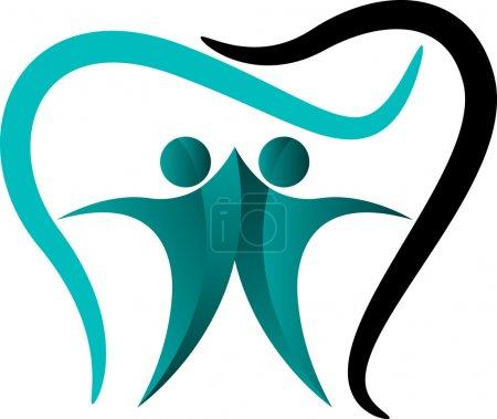 Dental couple logo