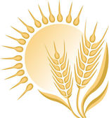 Illustration art of a wheat logo with isolated background