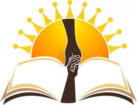 Photo for Illustration art of bright education logo with isolated background - Royalty Free Image