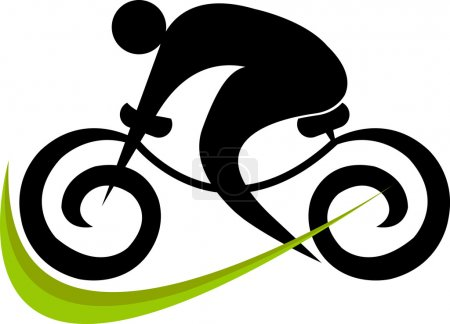 Illustration for Illustration art of a cycling logo with isolated background - Royalty Free Image