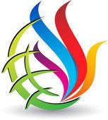 Global flame logo