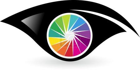 Colorful eye logo