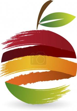 Illustration for Illustration art of a fruit logo with isolated background - Royalty Free Image