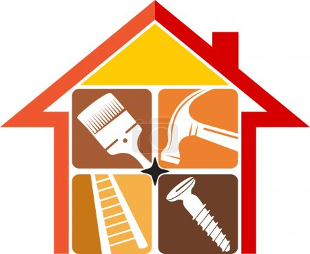 Home repair logo