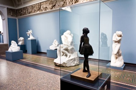 In the arts gallery