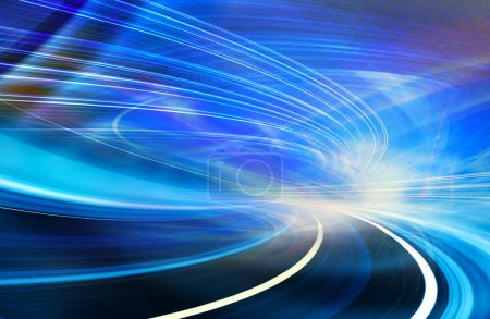 Abstract Speed motion in highway road tunnel